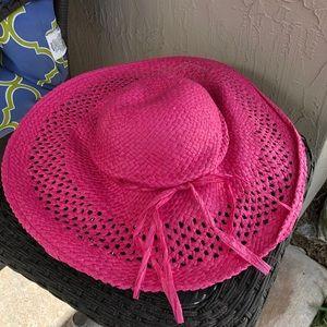 Pink Straw Hat Paper Beach